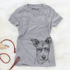 Coral the Mixed Breed - Women's Modern Fit V-neck Shirt