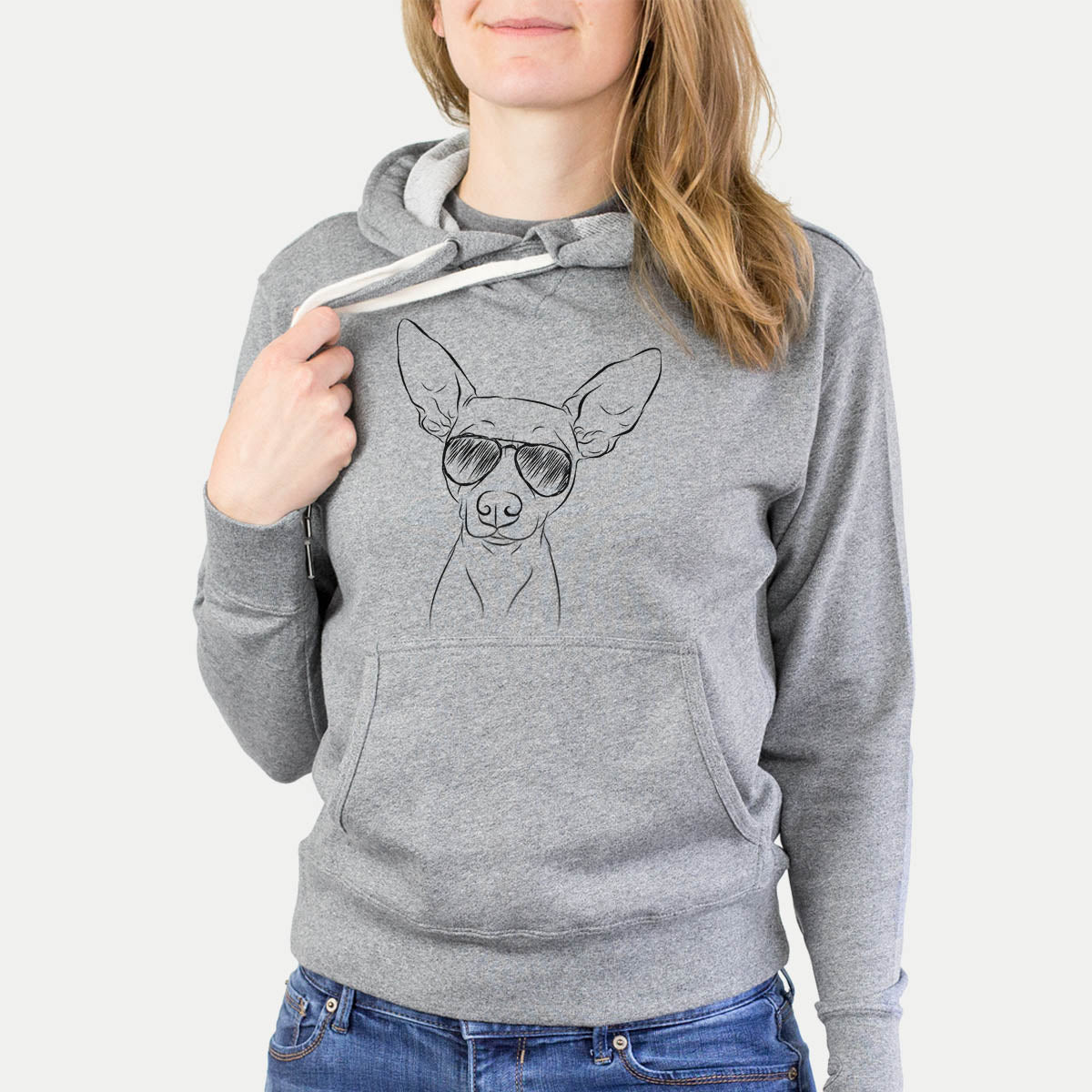 Desi the American Hairless Terrier - French Terry Hooded Sweatshirt