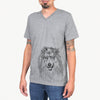 Donnan the Rough Collie - Unisex V-Neck Shirt