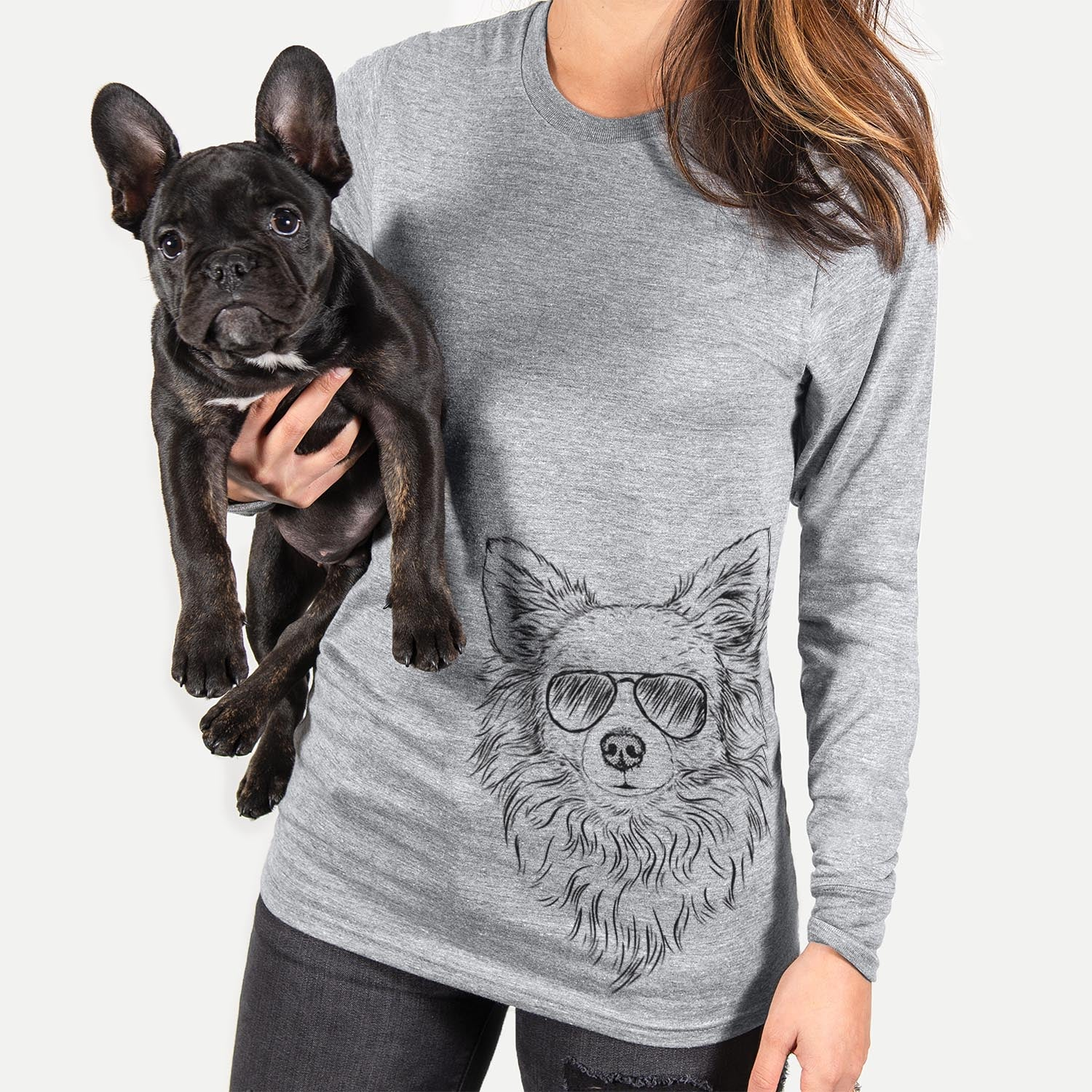 Emma the Longhaired Chihuahua - Long Sleeve Crewneck