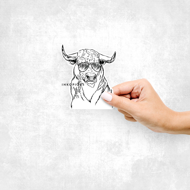 Ferdinand the Bull - Decal Sticker
