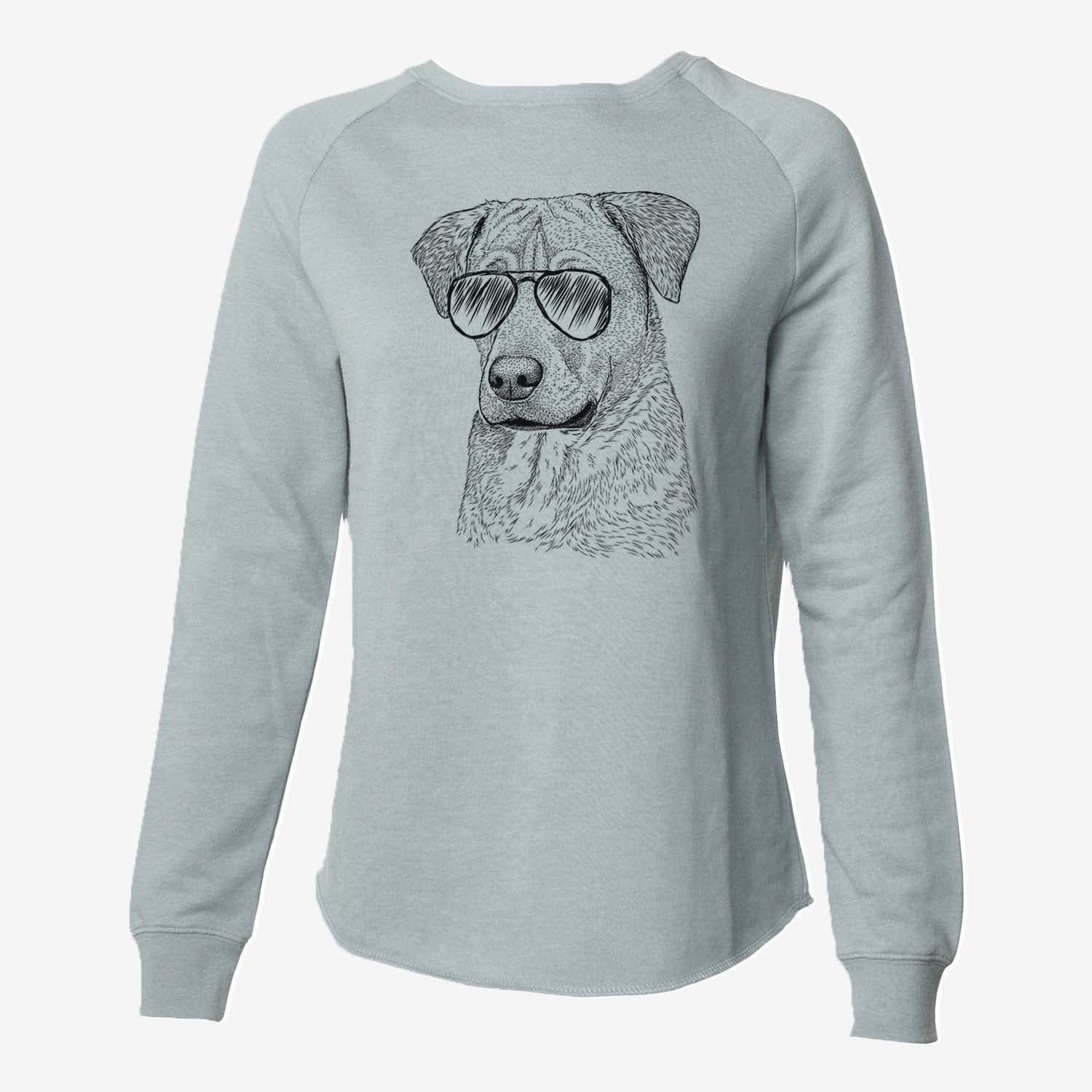 Feta the Mixed Breed - Cali Wave Crewneck Sweatshirt