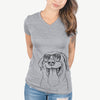 Fig the Labrador Retriever - Women's Modern Fit V-neck Shirt
