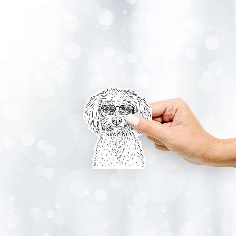 Francesca the Maltipoo - Decal Sticker