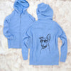 Frosty the Greyhound - Unisex Raglan Zip Up Hoodie