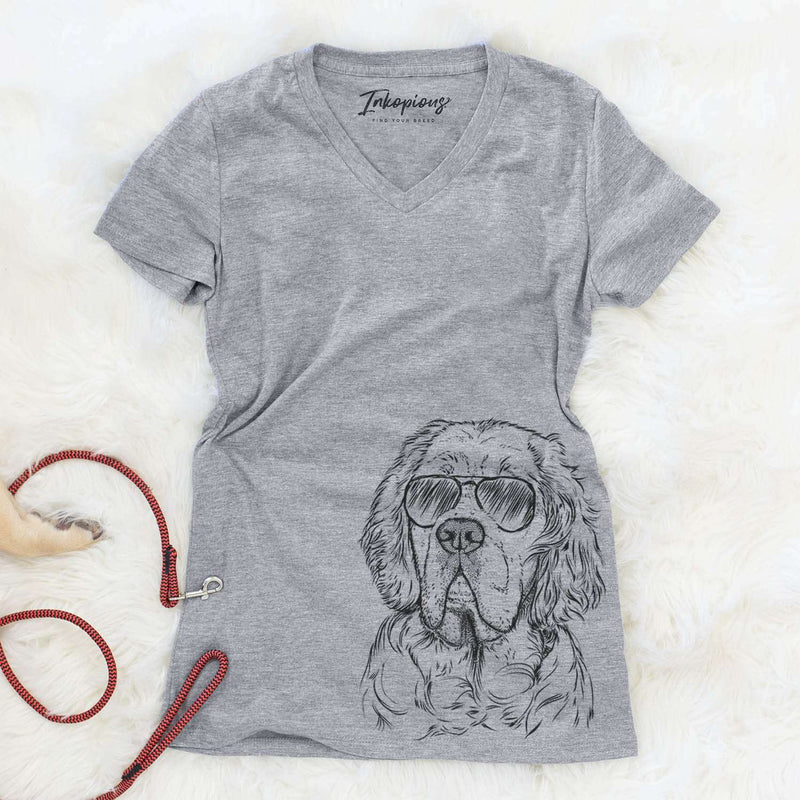 Gary the Clumber Spaniel - Women's Modern Fit V-neck Shirt