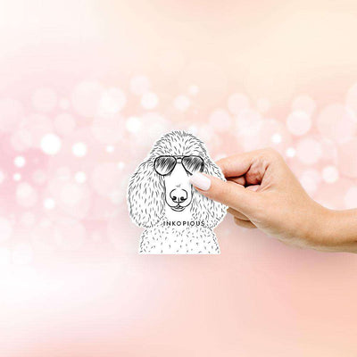 Gio the Handsome Poodle - Decal Sticker