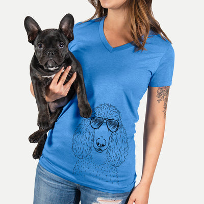 Giovanni the Poodle - Women's Modern Fit V-neck Shirt