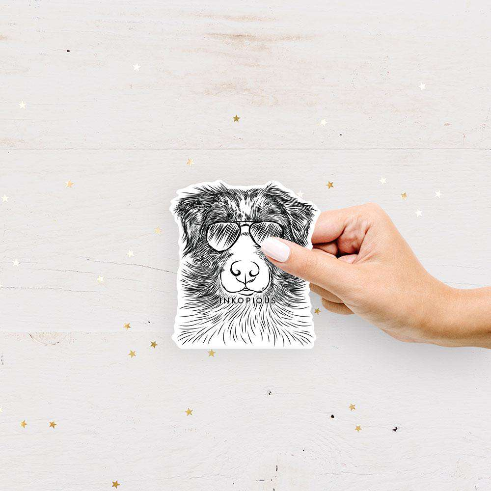 Gram the Australian Shepherd - Decal Sticker
