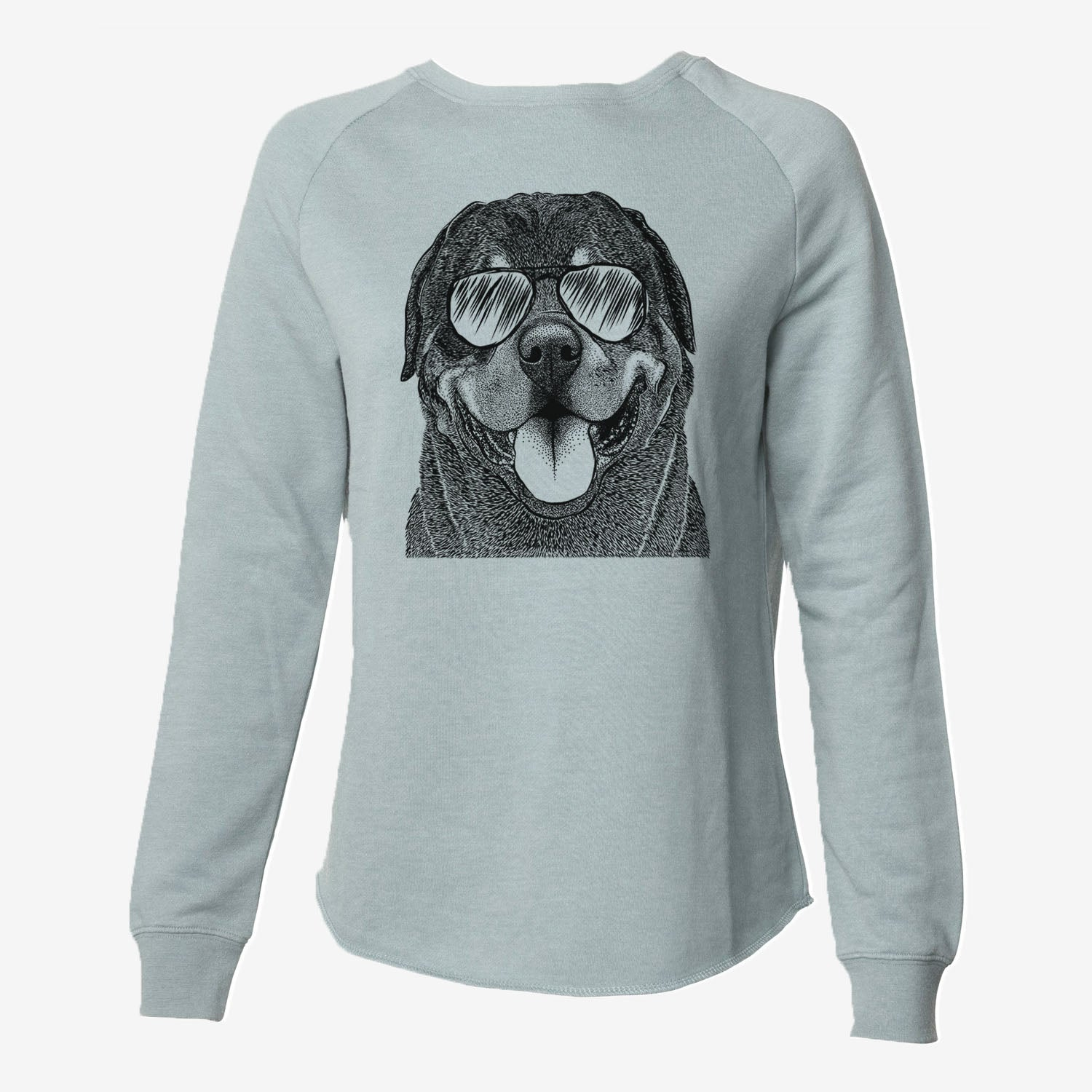 Hagan the Rottweiler - Cali Wave Crewneck Sweatshirt