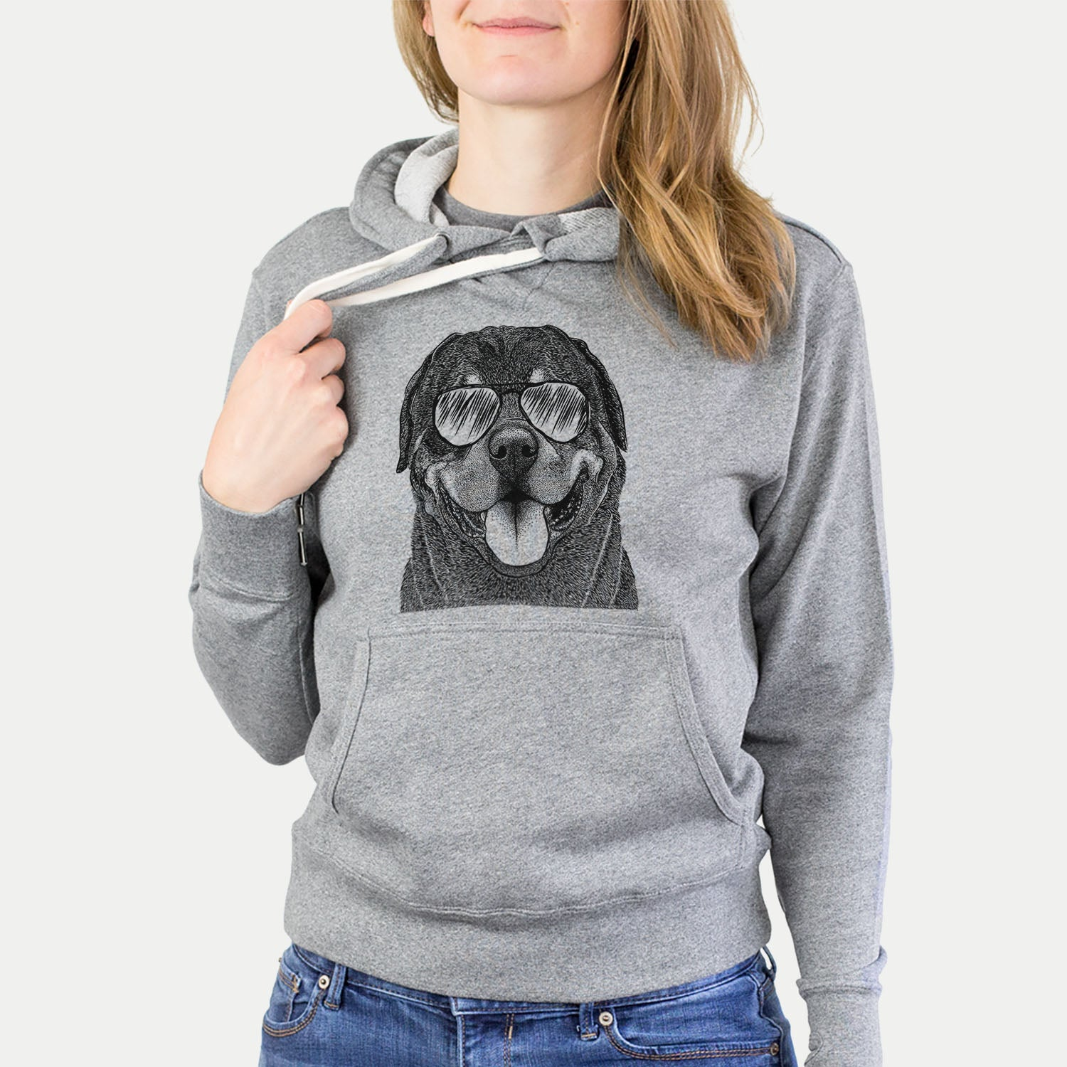 Hagan the Rottweiler - French Terry Hooded Sweatshirt