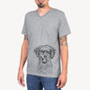 Happy Otis the Miniature Goldendoodle - Unisex V-Neck Shirt