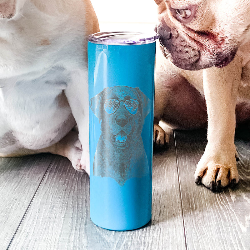 Heath the Black Lab - 20oz Skinny Tumbler