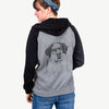 Hook the Saint Bernard - Unisex Raglan Zip Up Hoodie