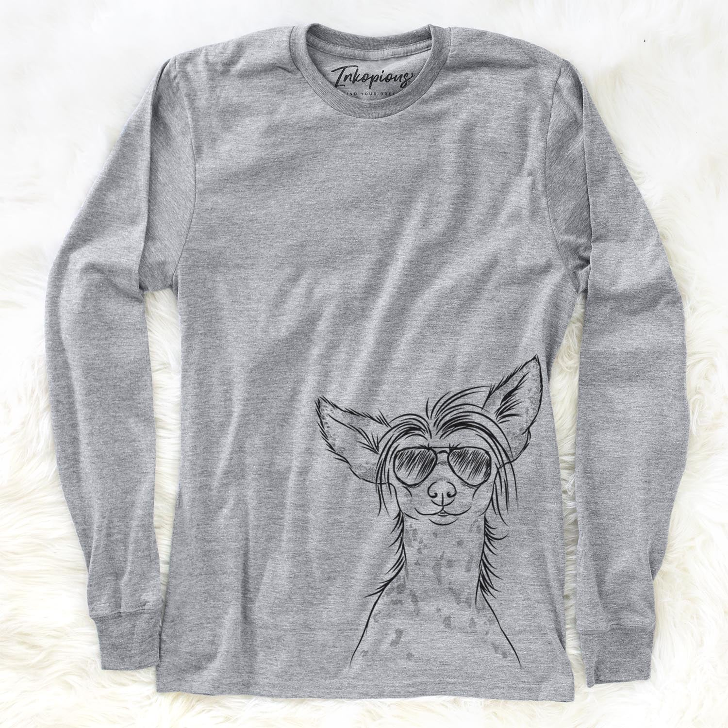 Hudson the Chinese Crested - Long Sleeve Crewneck