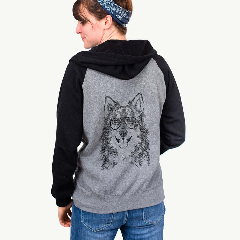 Iben the Utonagan - Unisex Raglan Zip Up Hoodie