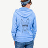Indy the Ibizan Hound - Unisex Raglan Zip Up Hoodie