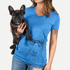 Jett the Bull Terrier - Women's Modern Fit V-neck Shirt