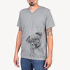 LokiBear the Australian Cattle Dog Mix - Unisex V-Neck Shirt