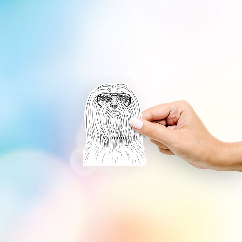 Lorenzo the Lhasa Apso - Decal Sticker