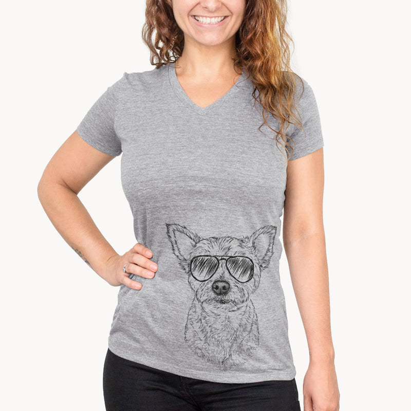 Mango the Mixed Breed - Women's Modern Fit V-neck Shirt