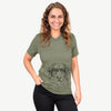 Marley the Golden Retriever - Unisex V-Neck Shirt