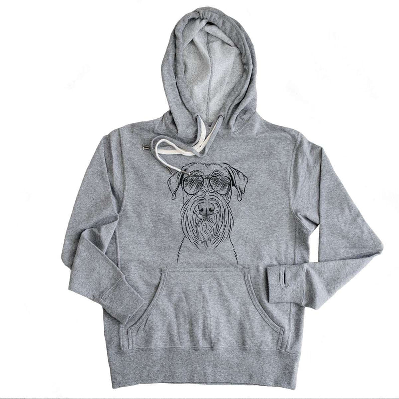 Milton the Standard Schnauzer - French Terry Hooded Sweatshirt