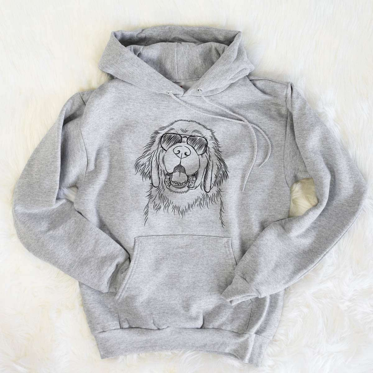 Mo the Newfoundland - Mens Hooded Sweatshirt