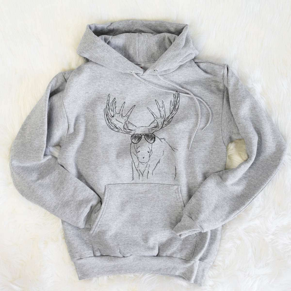 Monty the Moose - Mens Hooded Sweatshirt