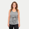 MrRusty the Long Haired Dachshund - Racerback Tank Top