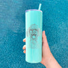 Mr. Rusty the Long Haired Dachshund - 20oz Skinny Tumbler