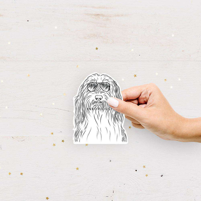 Murray the Bearded Collie - Decal Sticker