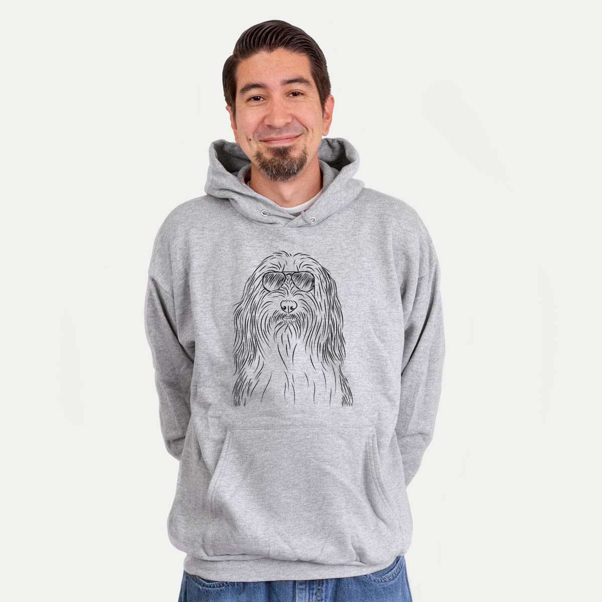 Murray the Bearded Collie - Mens Hooded Sweatshirt