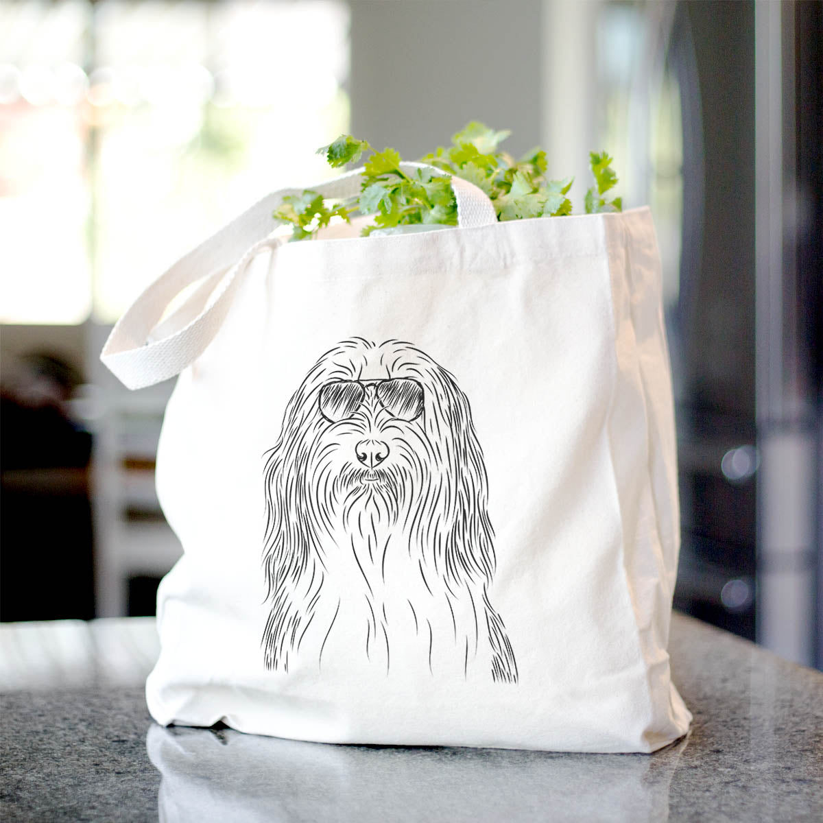 Murray the Bearded Collie - Tote Bag