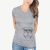Nacho the American Bully - Women's Modern Fit V-neck Shirt