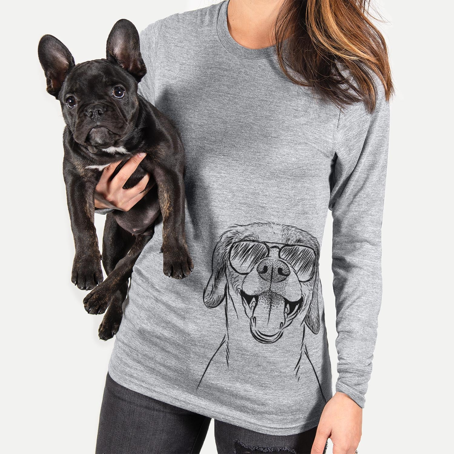 Obi the Beagle Mix - Long Sleeve Crewneck