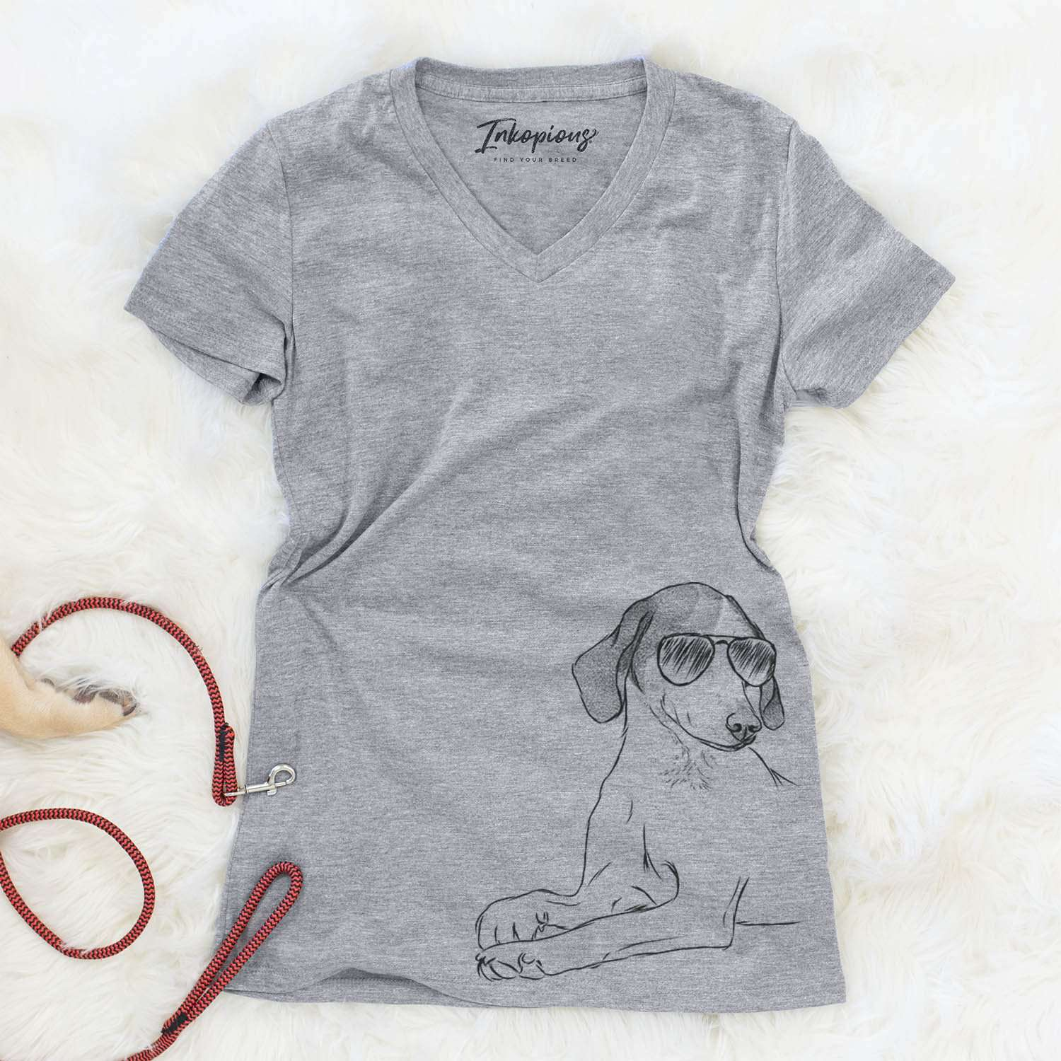 Opie the Foxhound - Women's Modern Fit V-neck Shirt