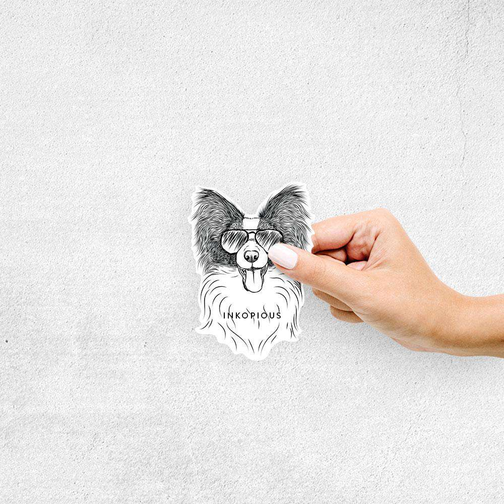 Patrick the Papillon - Decal Sticker