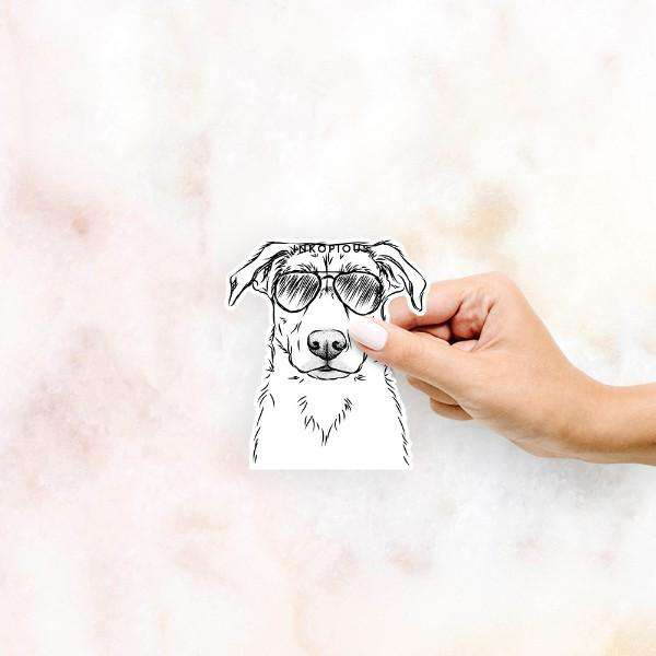 Peanut the Mixed Breed - Decal Sticker