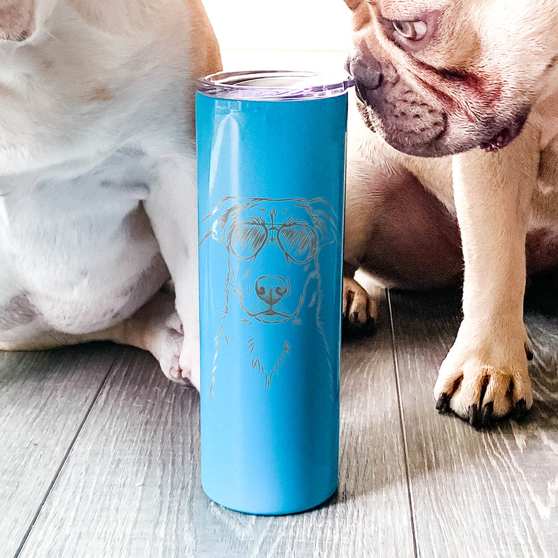 Peanut the Lab Mix - 20oz Skinny Tumbler