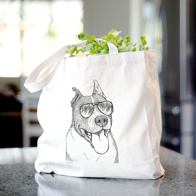 Piggy the American Staffordshire Terrier - Tote Bag