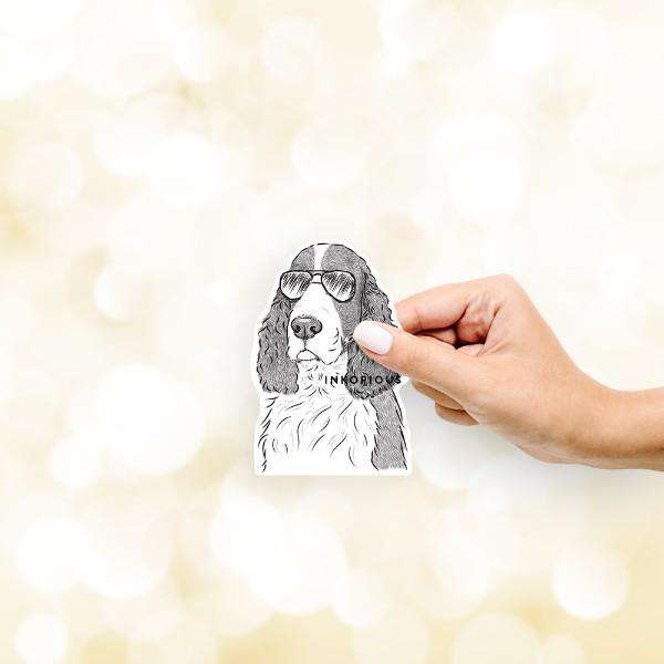Quincy the English Springer Spaniel - Decal Sticker