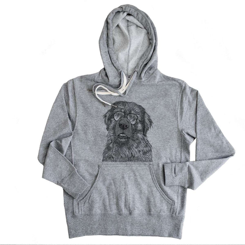 Ralph the Leonberger - Grey French Terry Hooded Sweatshirt