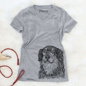 Ranger the Mixed Breed - Women's Modern Fit V-neck Shirt