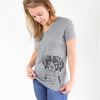 Remi the Brittany - Women's Modern Fit V-neck Shirt