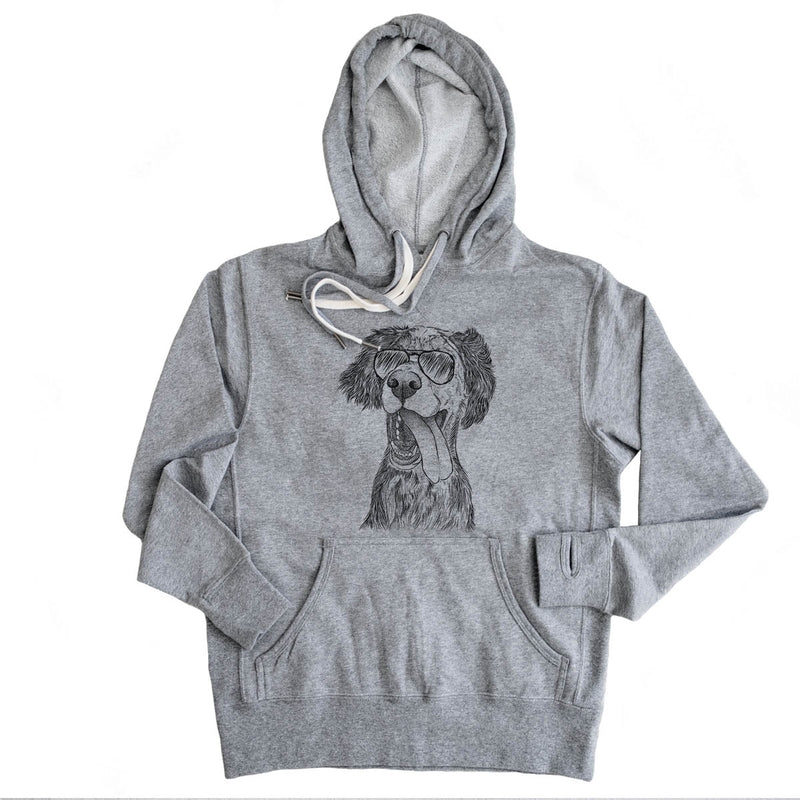 Renly the English Setter - French Terry Hooded Sweatshirt