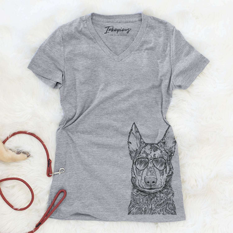 Riggs the Beauceron - Women's Modern Fit V-neck Shirt