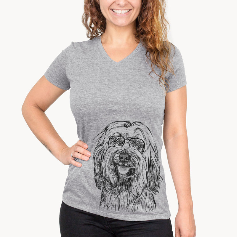 Rime the Tibetan Terrier - Women's Modern Fit V-neck Shirt