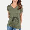 Roux the Long Haired Dachshund - Women's Modern Fit V-neck Shirt