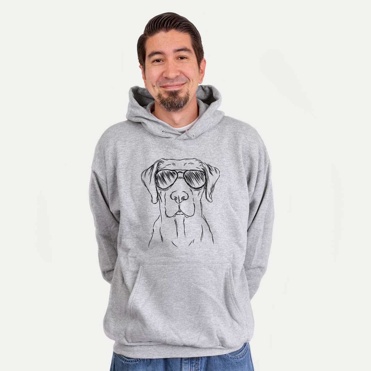 Rowdy the Labrador Retriever - Mens Hooded Sweatshirt